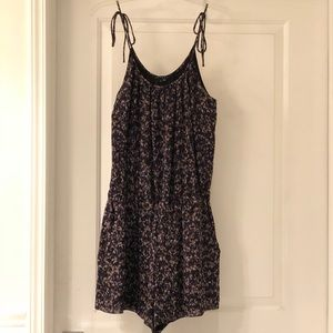 THEORY silk shorts romper size small